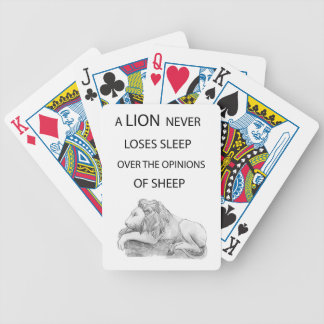 A lion  never bicycle playing cards