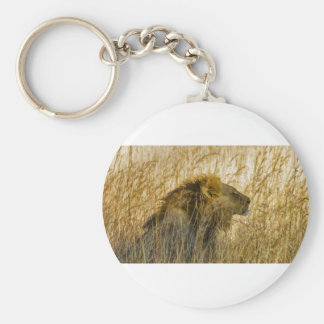 A Lion Waits, Zimbabwe Africa Key Ring