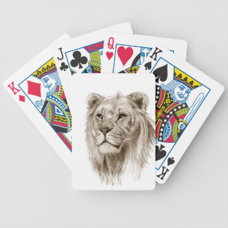 A Lion - Without Pride Drawing Sketch Art Bicycle Playing Cards