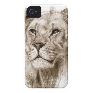 A Lion - Without Pride Drawing Sketch Art Case-Mate iPhone 4 Cases