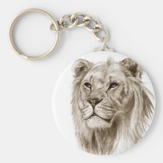 A Lion - Without Pride Drawing Sketch Art Key Ring