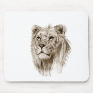 A Lion - Without Pride Drawing Sketch Art Mouse Pad