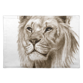 A Lion - Without Pride Drawing Sketch Art Placemats