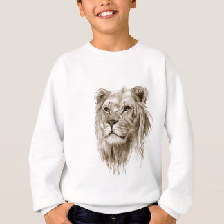 A Lion - Without Pride Drawing Sketch Art Sweatshirt