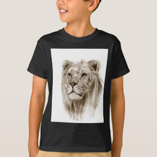 A Lion - Without Pride Drawing Sketch Art T-Shirt