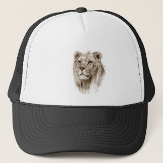 A Lion - Without Pride Drawing Sketch Art Trucker Hat