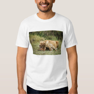 A lioness and her playful cub t shirt