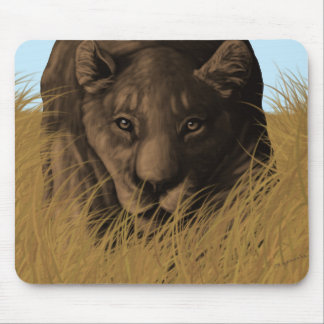 A Lioness Hunting in Tall Grass Mousepad