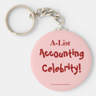 A-List Accounting Celebrity ! Basic Round Button Key Ring