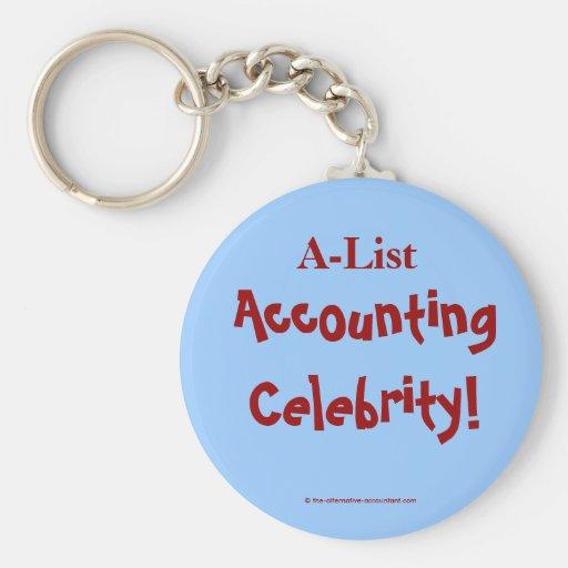 A-List Accounting Celebrity ! Key Chain