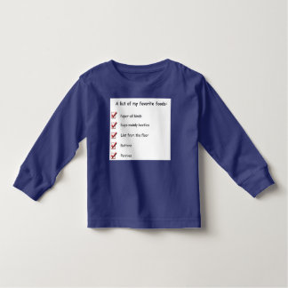 A List of My Favorite Foods T Shirts