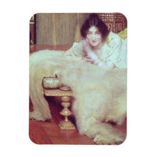 A Listener: The Bear Rug, 1899 (oil on panel) Rectangular Magnet