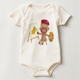 A Little Artist Socky the Sock Monkey Infant Baby Bodysuit