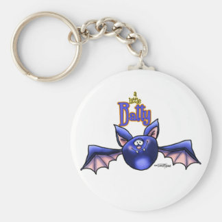 a little Batty? Basic Round Button Key Ring