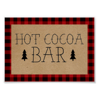 A Little Bear Hot Cocoa Bar Poster