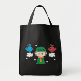 A Little Bird Told Me - Grocery Tote Tote Bags