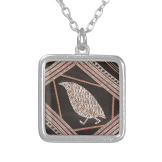 A Little Bird Told Me Square Pendant Necklace