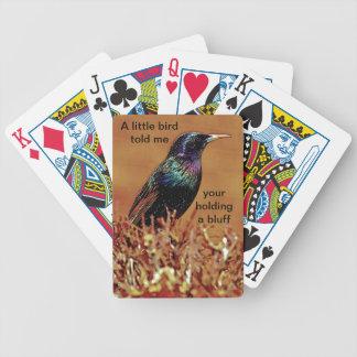 A Little Bird Told Me Starling Bird Photograph Poker Cards