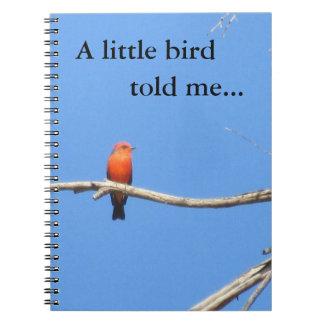 A Little Bird Told Me...  Vermilion Flycatcher Spiral Notebook