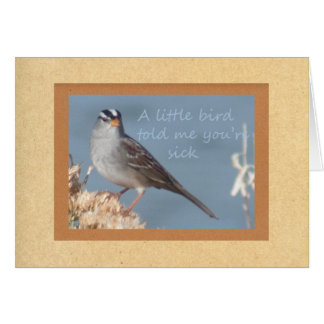 A Little Bird Told Me You Were Sick Note Card