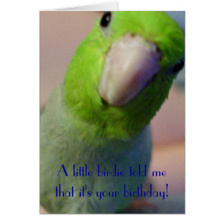 A Little Birdie Told Me... Greeting Card