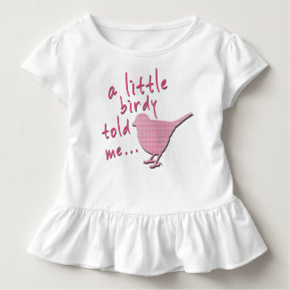 A Little Birdy Told Me Toddler Ruffle Tee (white)