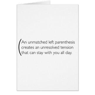 A little bit about parenthesis greeting card