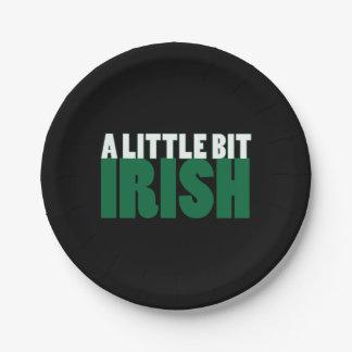 A Little Bit Irish Black 7 Inch Paper Plate
