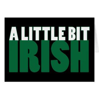 A Little Bit Irish Black Greeting Card