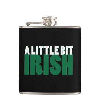A Little Bit Irish Black Hip Flasks