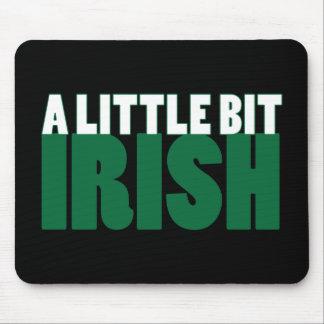 A Little Bit Irish Black Mousepads