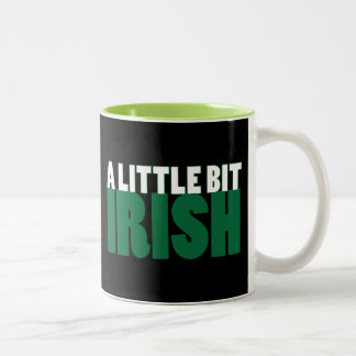 A Little Bit Irish Black Coffee Mug