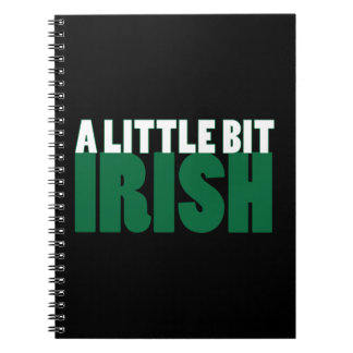 A Little Bit Irish Black Spiral Note Books