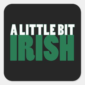 A Little Bit Irish Black Square Sticker