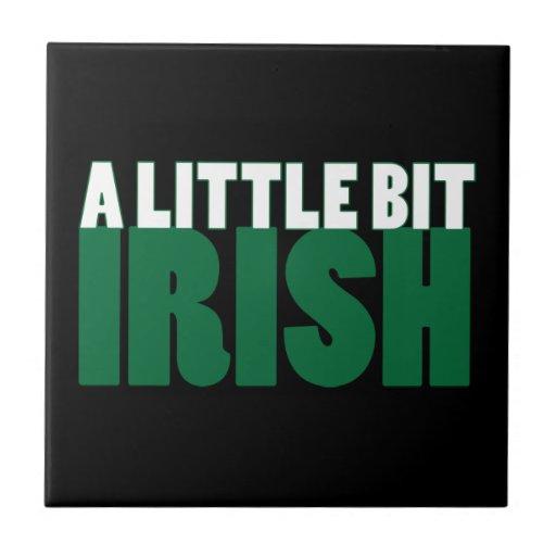 A Little Bit Irish Black Tile