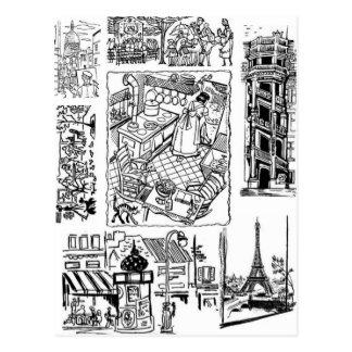 A Little Bit of France Postcard