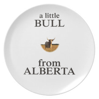 A Little Bull from Alberta Plate