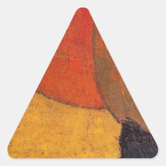 A little cat by Paul Gauguin Triangle Sticker