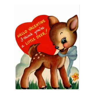A Little Deer | Vintage Valentine | Postcard
