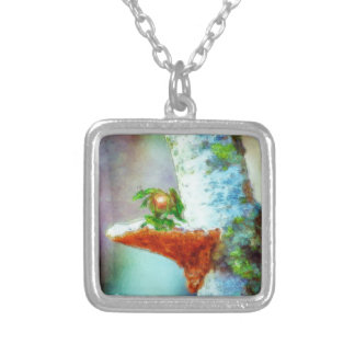 A Little Dragon Sleeps Silver Plated Necklace