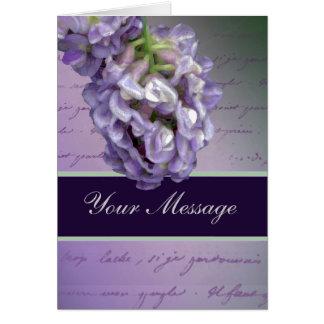 A little lilac card