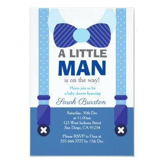 A little man baby shower invitation card