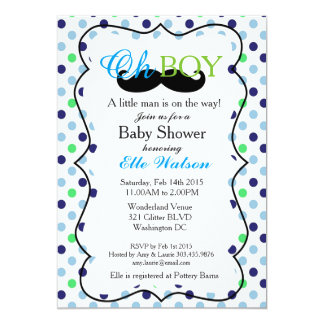 little man baby shower invitations announcements