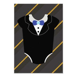 A little man tuxedo baby shower invitation card