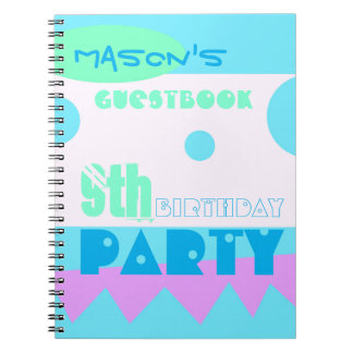 A Little Monster 9th Birthday Party Guestbook Spiral Notebook