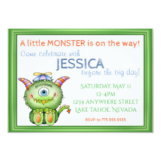 A little Monster Baby Shower Card