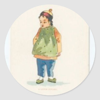 A Little Outkast Chinese Boy Classic Round Sticker