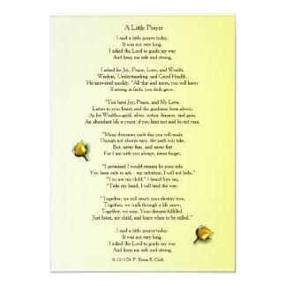 """""""A Little Prayer"""" Matte Yellow Rose Bud Card"""