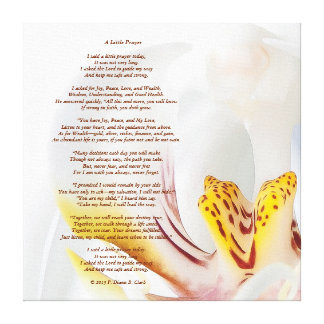 """A Little Prayer"" Orchid  24x24 Canvas Print"