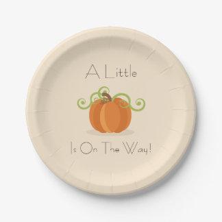 A Little Pumpkin Baby Shower Plates